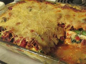 Veggie (and meat!) Lasagna