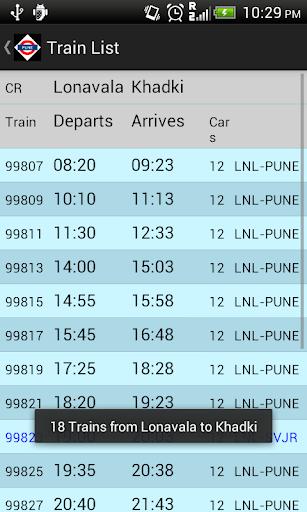 Pune Local Train Timetable 2.4 screenshots 2