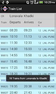 Pune Local Train Timetable- screenshot thumbnail