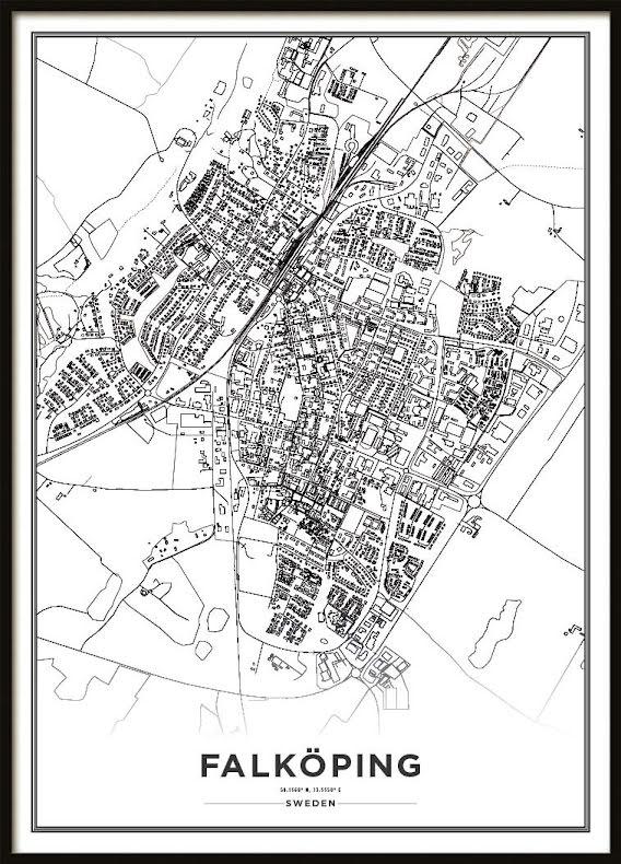 Karta Poster, Falköping