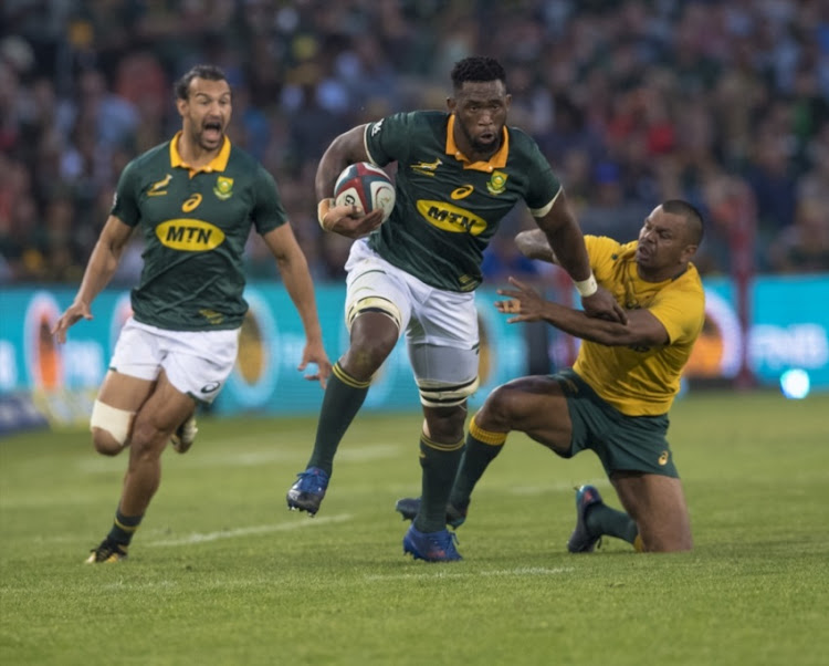 Siya Kolisi of the Springboks during the Rugby Championship 2017 match between South Africa and Australia at Toyota Stadium on September 30, 2017 in Bloemfontein, South Africa.