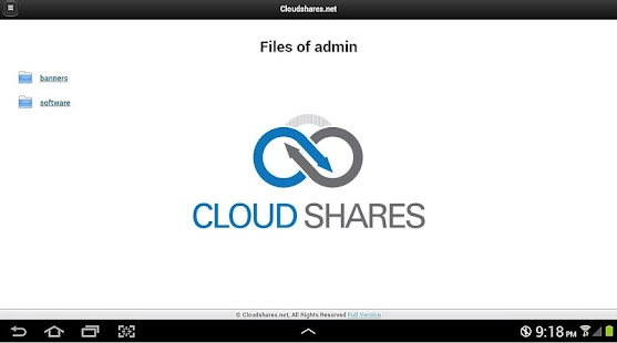 Cloudshares.net Cloud Storage- screenshot thumbnail