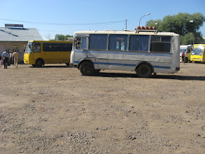 Photo: Następnie przesiadamy się do marszrutki zmierzającej do Samboru (Самбір).