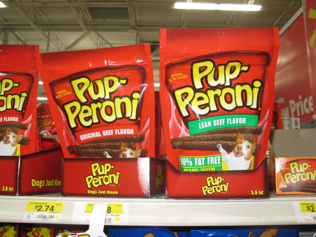 Photo: They have Lean Pup-Peroni treats!! That's one dog treat on out list!