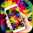 Rainbow Rose Color Flora Theme icon