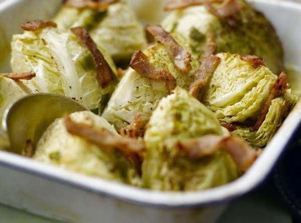 Baked Cabbage With Bacon Recipe