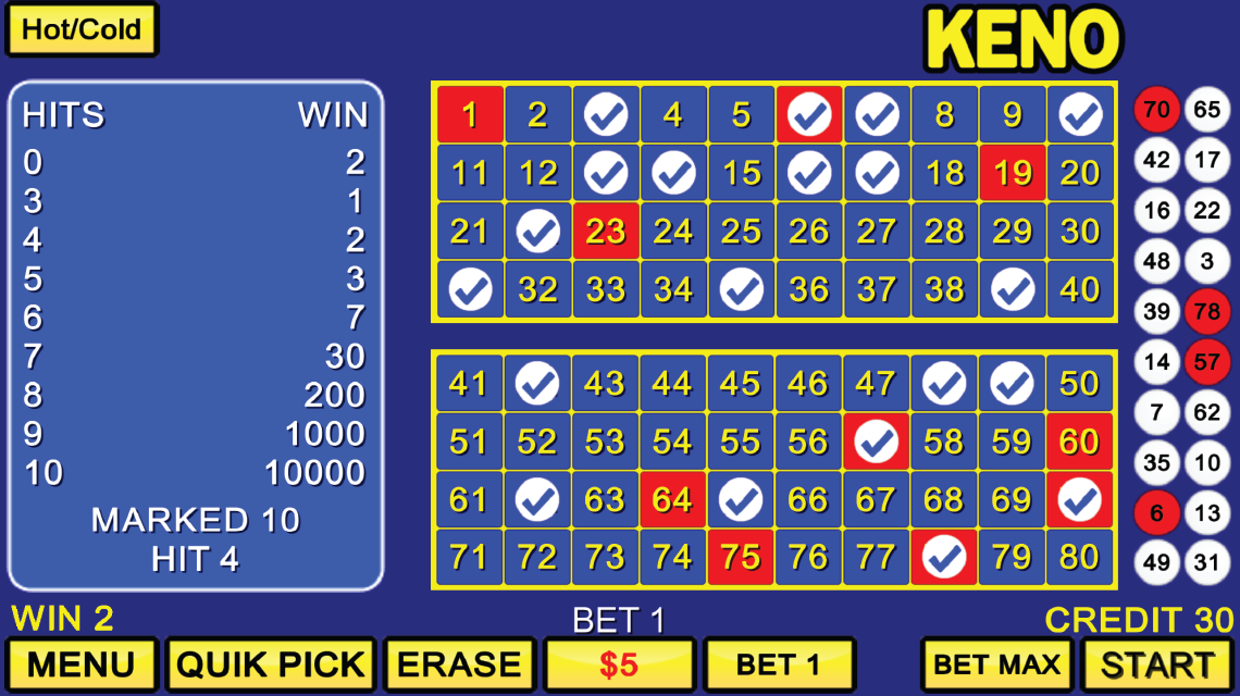 Lucky Keno Review & Free Instant Play Game