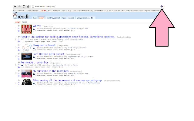 Reddit DownVoter chrome extension