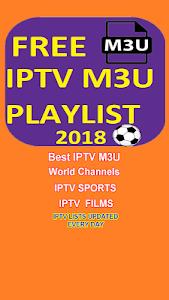 IPTV M3U PLAYLIST 2018 1 + (AdFree) APK for Android