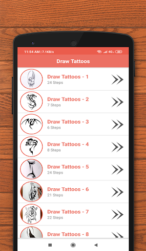 How to Draw Tattoos Sketch 6.0 screenshots 1
