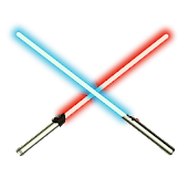 Lightsabers and laser stickers