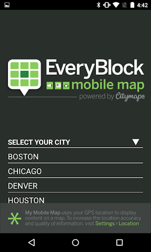 EveryBlock Map