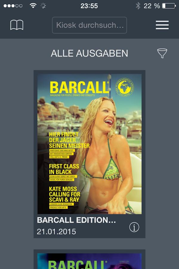 BARCALL- screenshot