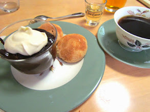 Photo: Warm Mexican Chocolate Pudding with Bizcochitos sugar cookies