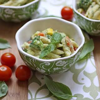 Creamy Vegan Pasta Primavera.
