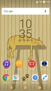XPERIA™ Stripey Cat Theme - náhled