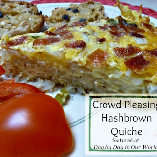 Crowd Pleasing Hashbrown Quiche Recipe