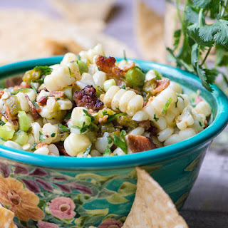 Sweet Corn, Hatch Chile, and Bacon Salsa.