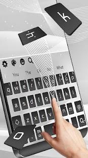 Elegant Grey Keyboard Theme - náhled