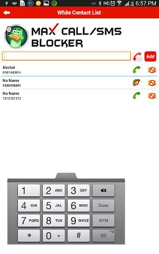 SMS and Call Blocker screenshot 2