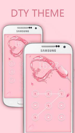 粉色浪漫鎖屏主題