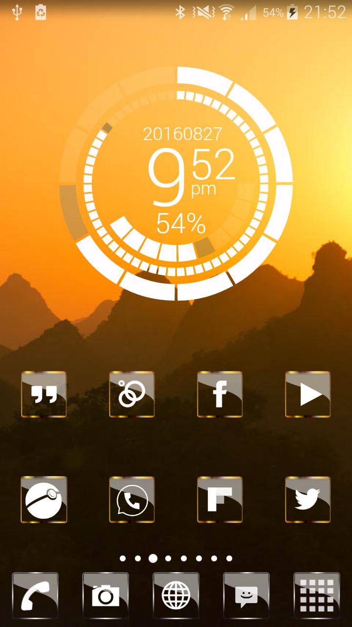 Golden Glass Nova Launcher theme Icon Pack Screenshot 4