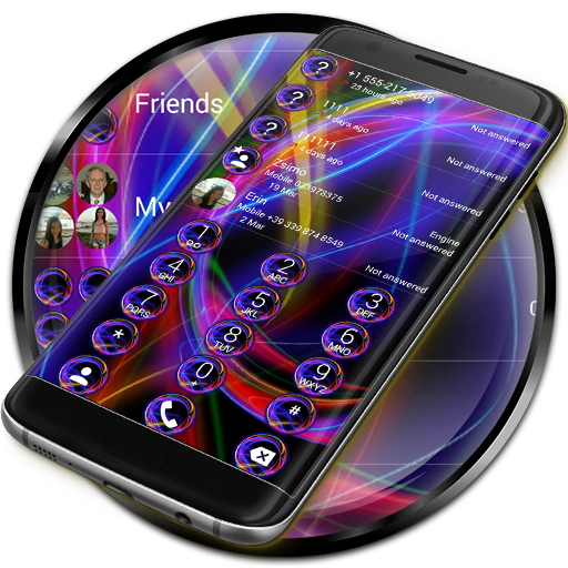 Dialer Neon Abstract Theme