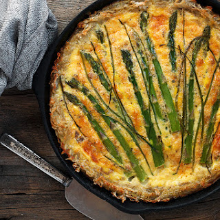 Hashbrown Crust Asparagus Quiche Recipe