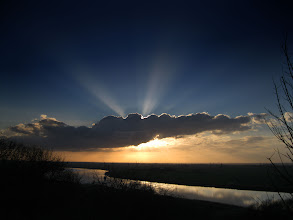 Photo: Sun Beams Over The River