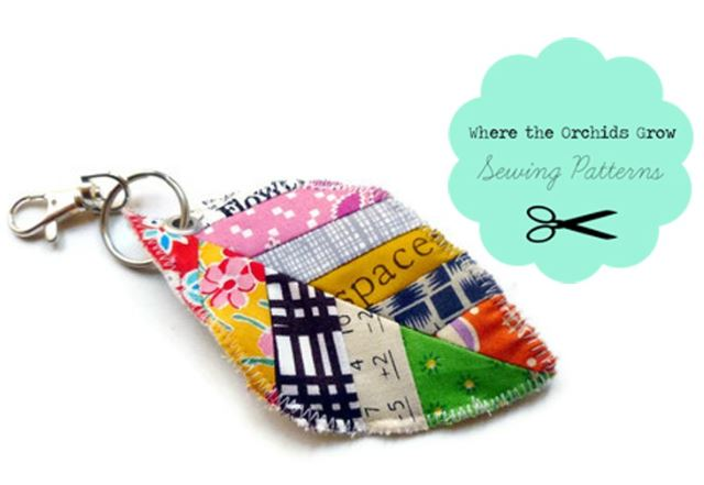 Craftsy Pattern: Quilted Keychain
