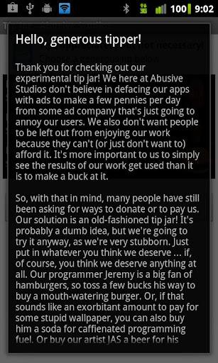 Tip Jar - Abusive Studios screenshot 1