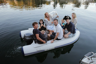 Photo: That was a good party! Martin taking his lot back to their cottage.And tomorrow we are off to Dyreparken! (Robert has borrowed Soren's Captain Sabeltann hat.)