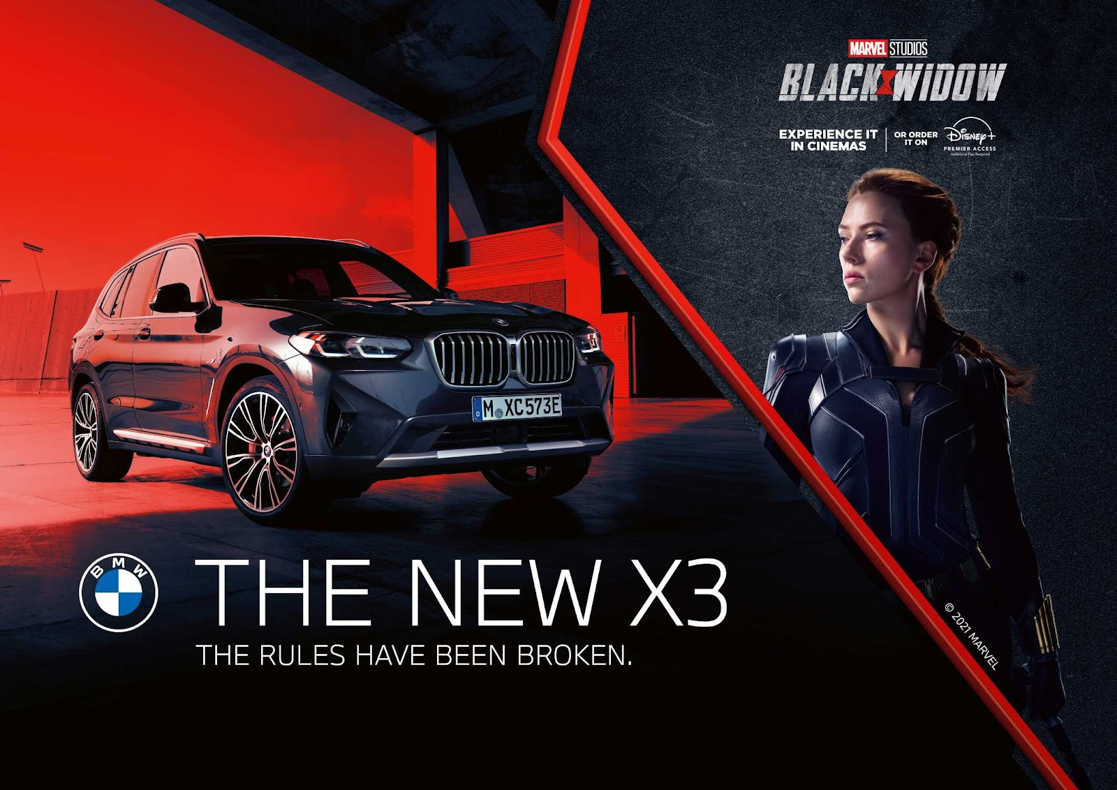 BMW teams up with Marvel Studios' Black Widow for a spectacular cinema  experience.