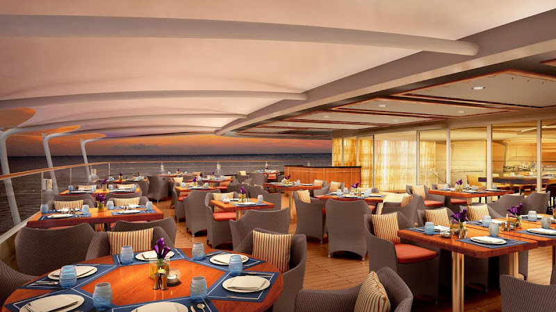 Rendering of the Colonnade on the aft deck of the upcoming Seabourn Ovation.