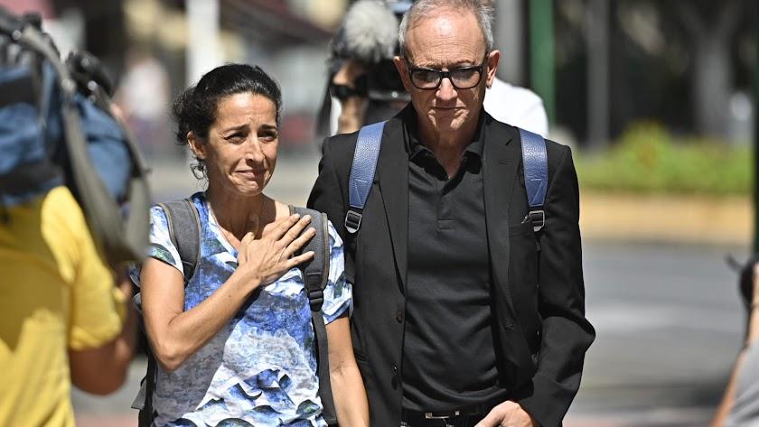 Llegada de Patricia Ramírez a la Audiencia de Almería en diciembre de 2019