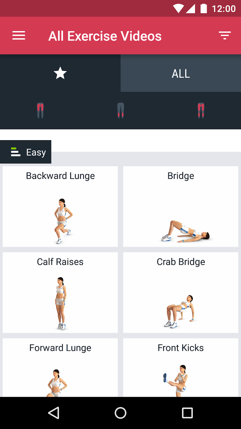 Runtastic Leg Trainer - Workouts & Exercises Screenshot 1