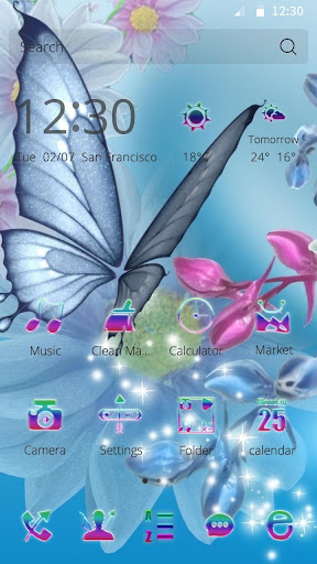 Flower and Butterfly Theme
