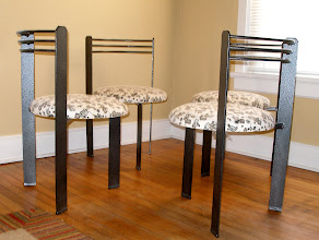 Photo: (4) DECO METAL CHAIRS: SOLD