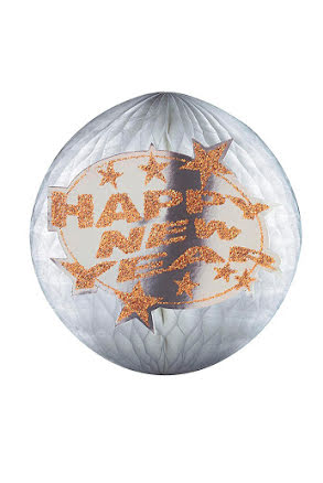 Glittrig Pappers Boll Happy New Year