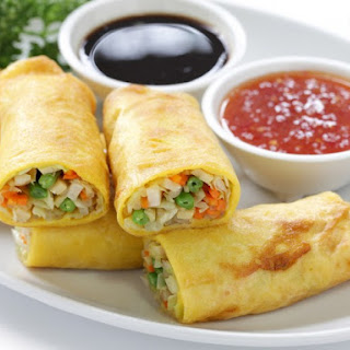 Pan-Fried Egg Roll Wrappers.
