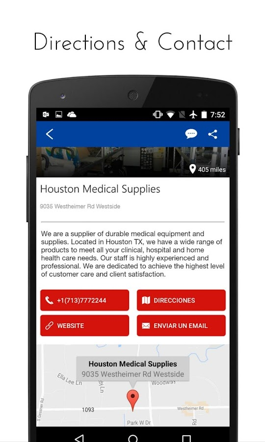 Houston Medical Supplies- screenshot