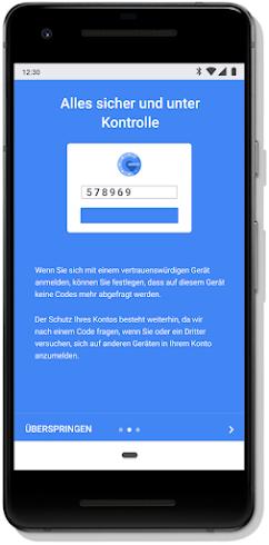 Ein Bildschirm mit Sicherheitsfunktionen auf einem Smartphone