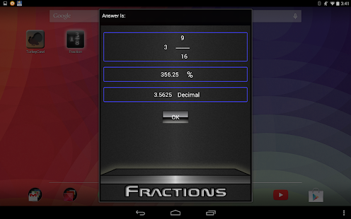 Fractions Screenshot
