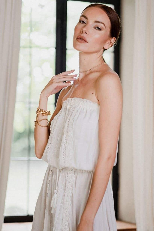 Jasmine Midi Dress in White
