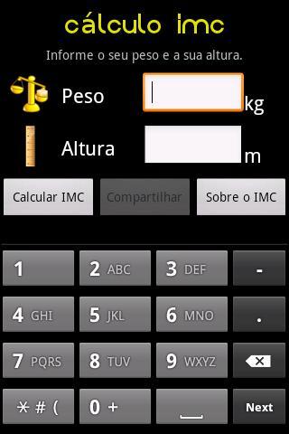 Cálculo IMC screenshot 1