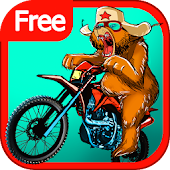 Russian Bear Bike Traffic Race