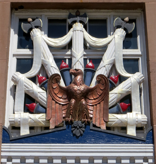 Ridgewood, NJ post office: entrance ornamentation