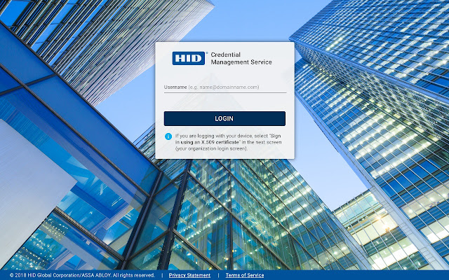 HID Credential Management Extension