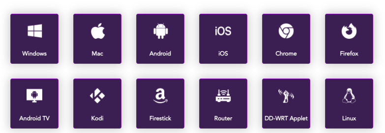 List of platforms and devices PureVPN works with