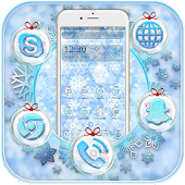 Blue Snow Flake Theme Android APK Download Free By Fancy Theme Palace